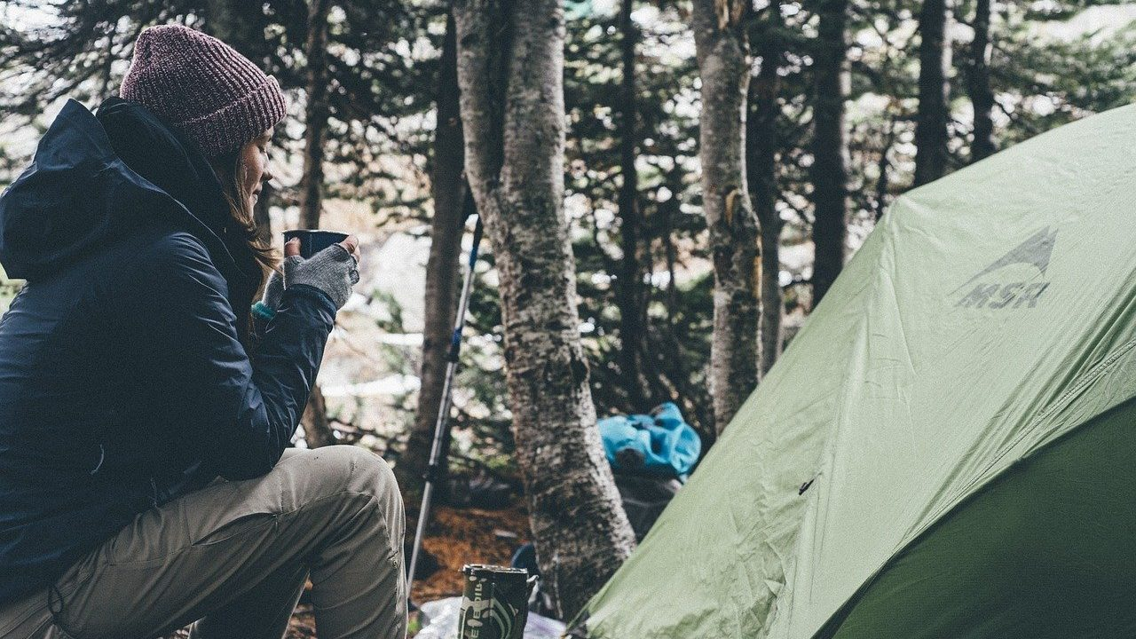 staying dry while camping