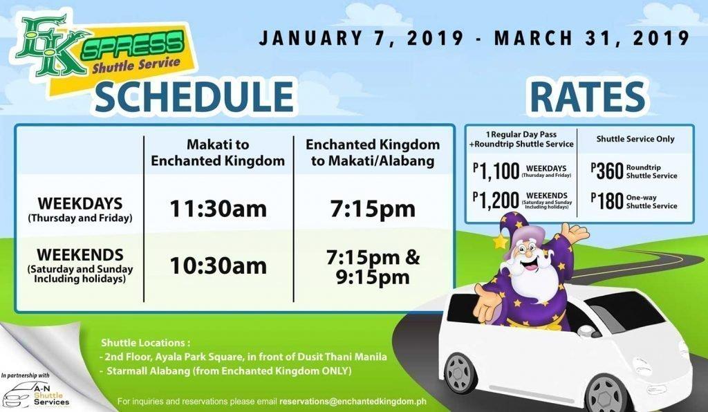 enchanted kingdom schedule