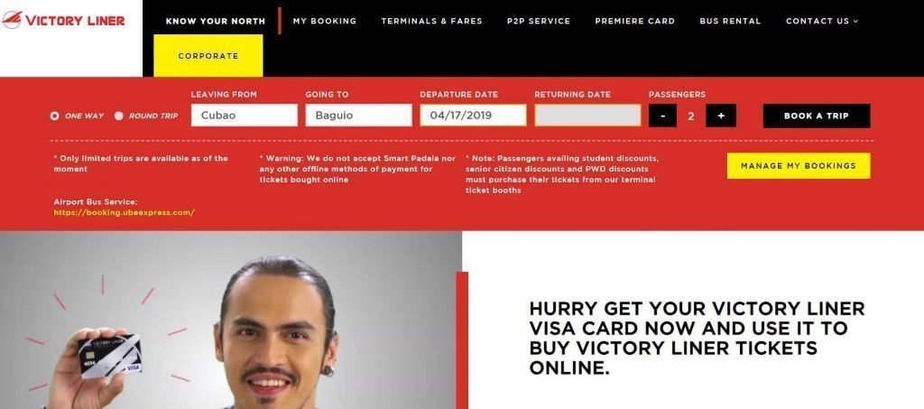 victory liner booking online