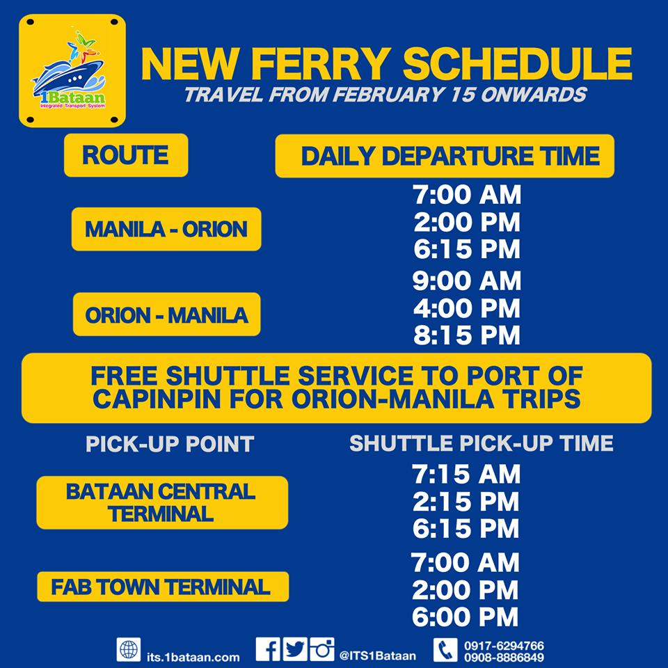1bataan ferry schedule