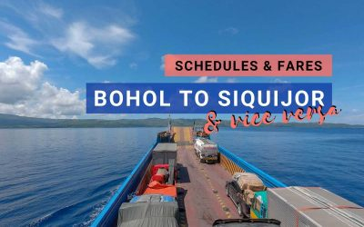Bohol to Siquijor Ferry: 2020 Updated Schedules and Fares